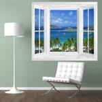 Adesivo imitando janela