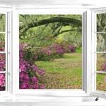 Adesivo imintando janela